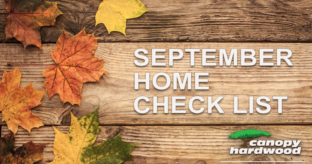 September Home Check List